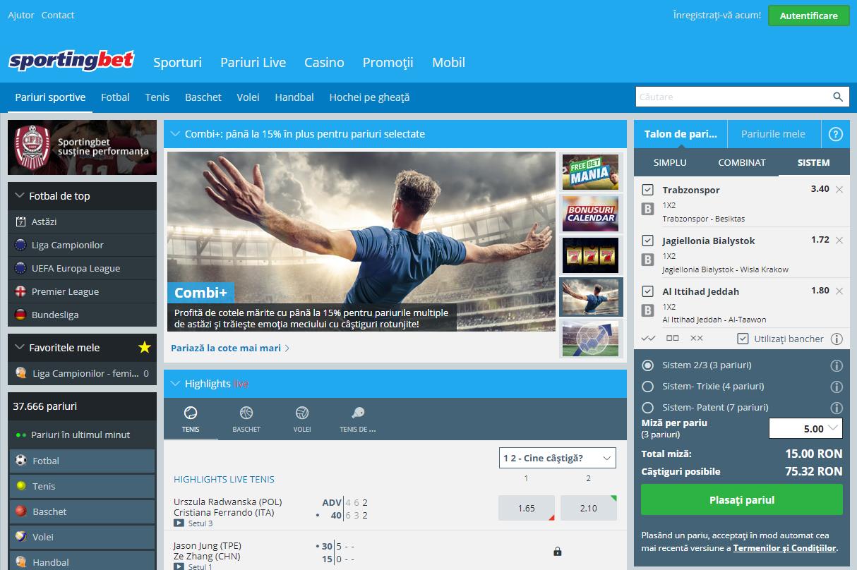 Sportingbet - pariuri online, poker și jocuri de casino