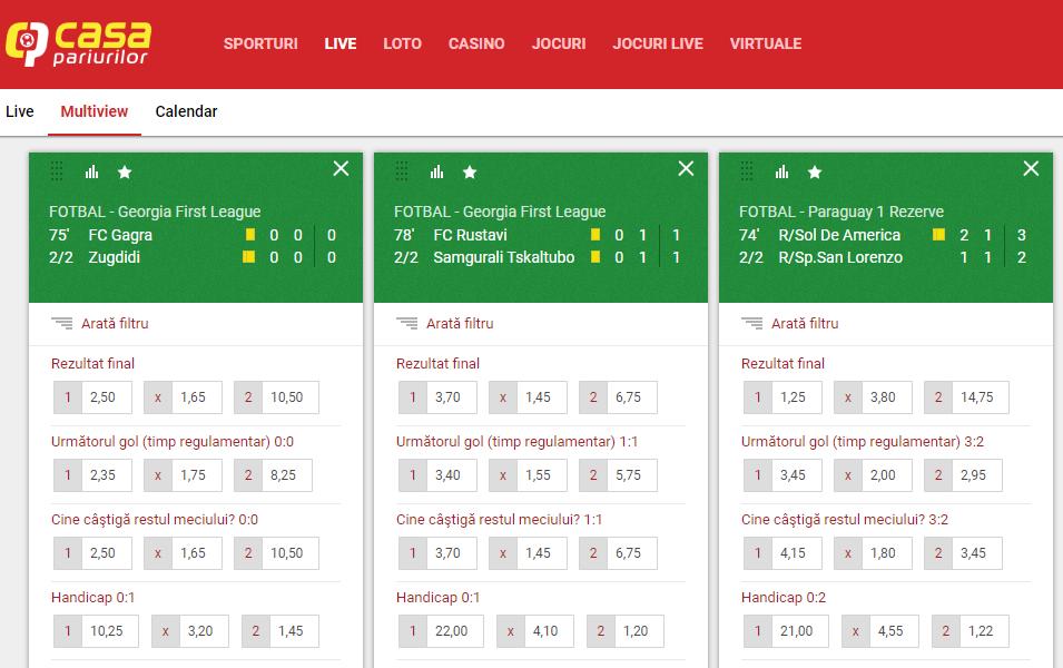 casa pariurilor rezultate live pagina de site