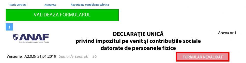 Tutorial completare Declarație Unică