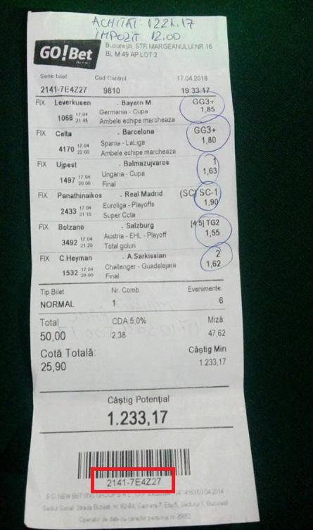 Verificare bilet pariuri sportive sport bet dutching betting software download