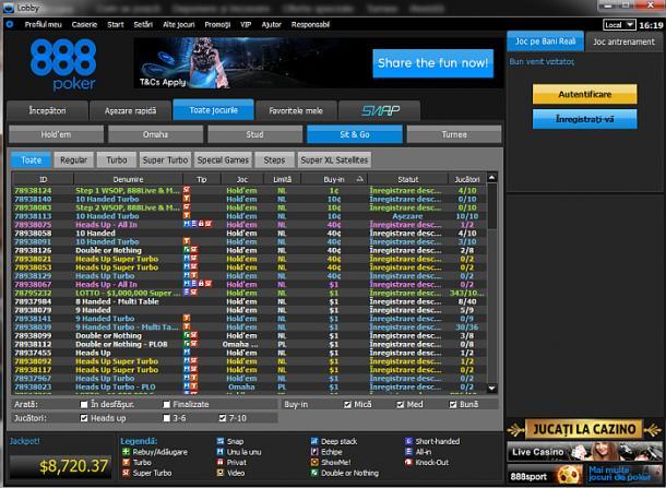 poker online romania cu 888 poker