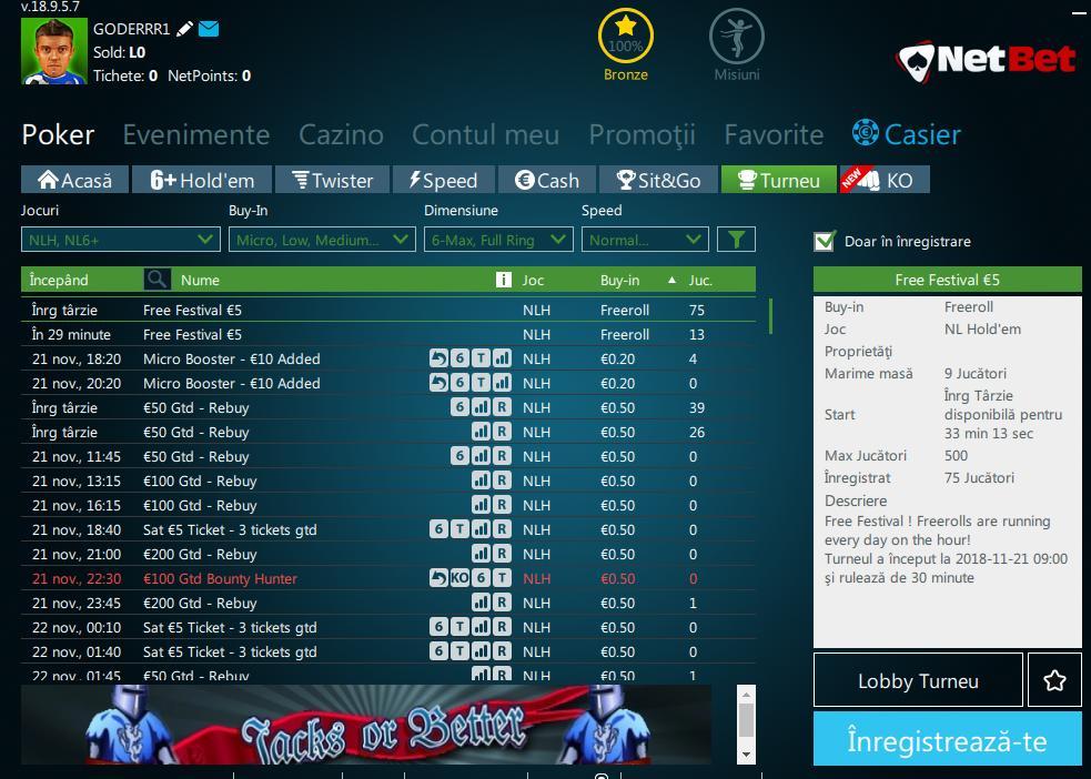 poker online romania cu netbet poker