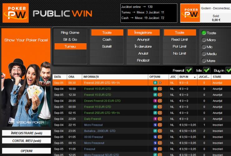 poker online romania cu public win poker