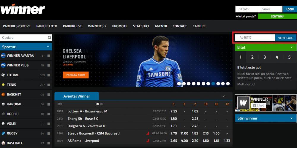 winner pariuri sportive pagina web