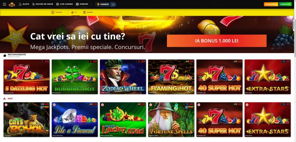 eliteslots jackpot online pagina de start www eliteslots ro