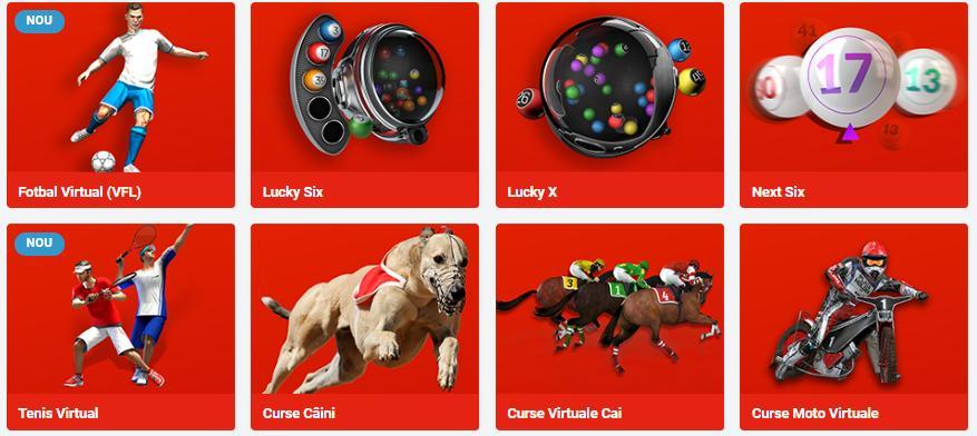 loterii virtuale fotbal virtual curse cai tenis virtual