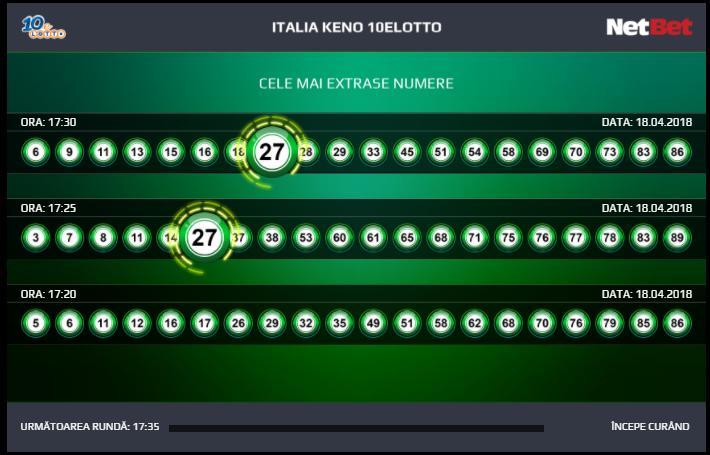 loto italia keno cele mai extrase numere