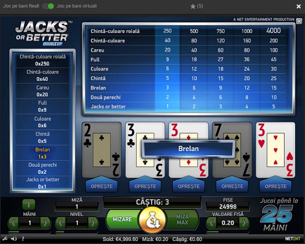Poker american ca la aparat