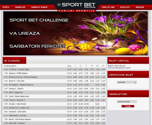 sport bet chellenge oferta sambata