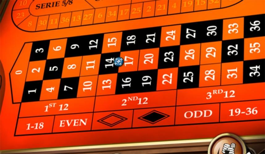 masa de ruleta in casino