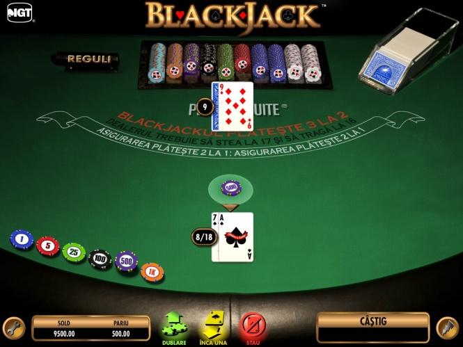 cum se joaca blackjack masa cu carti de joc casino