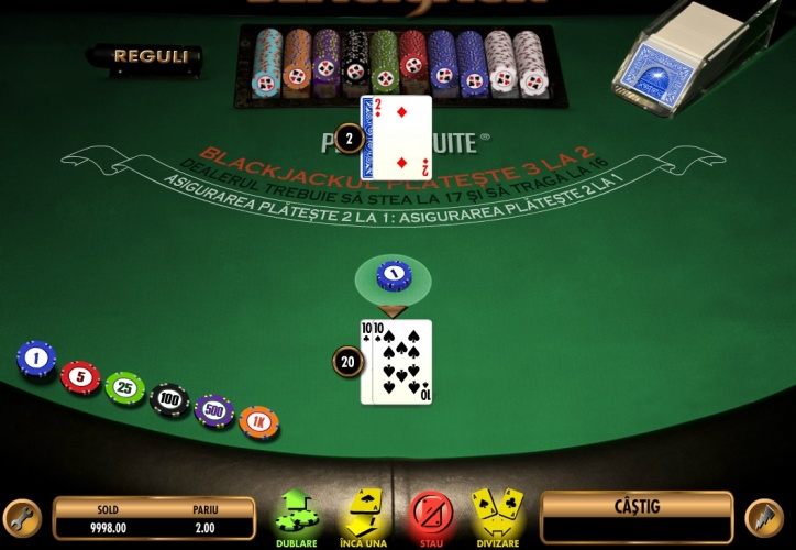 cum se joaca blackjack masa de joc carti si jetoane la casino
