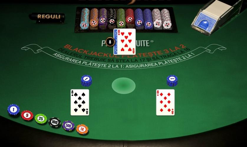 cum se joaca blackjack masa cu carti si jetoane la casino