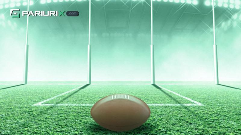 Australian rules football mingea si poarta