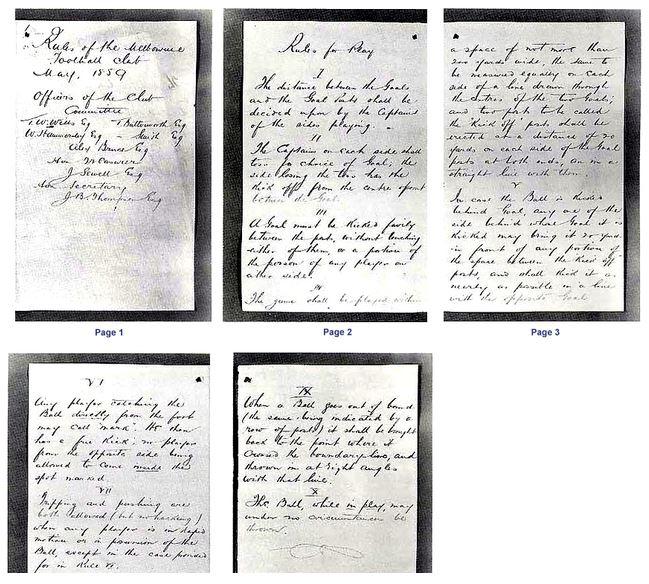 aussie rules - primele documente ce contesta regulile despre fotbal australian