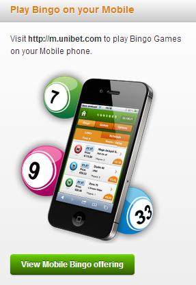 Unibet Bingo pe mobil