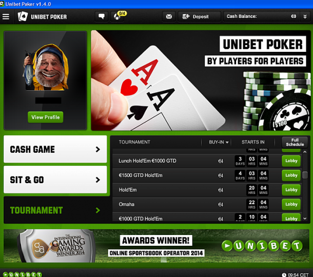 Turnee Unibet Poker