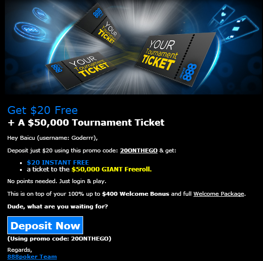 Promotie exclusiva 888Poker