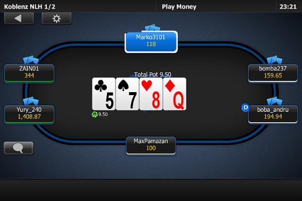 Poker pe mobil la 888Poker