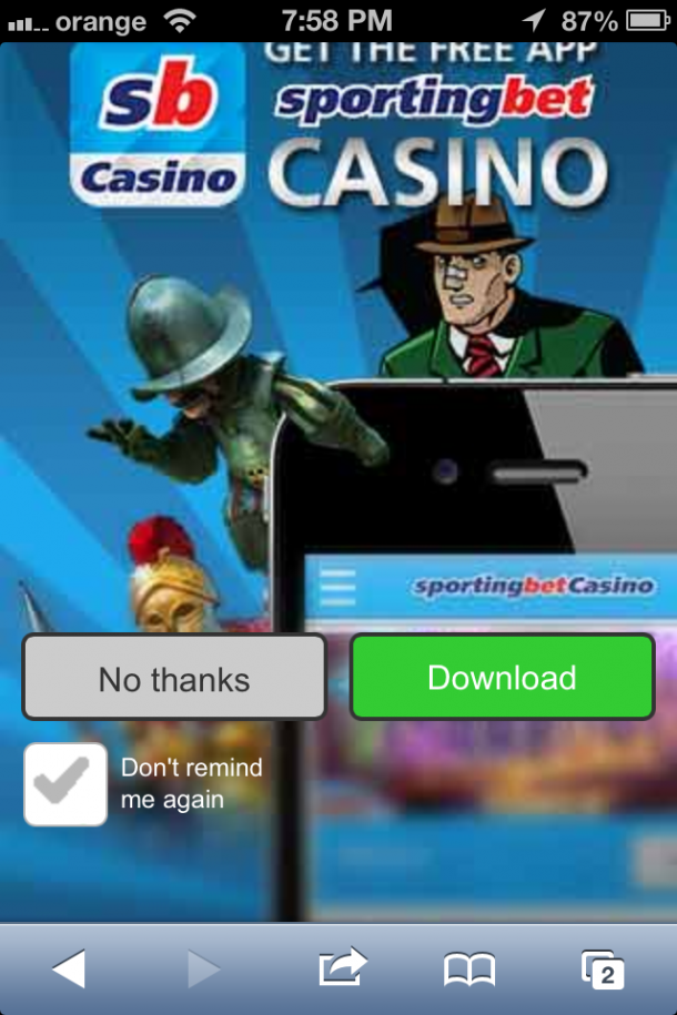 Sportingbet Casino mobile