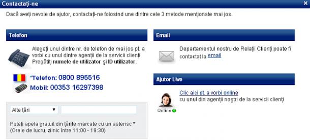 Serviciu suport clienti Sportingbet Casino
