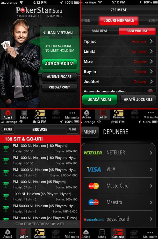 Poker pe telefon online