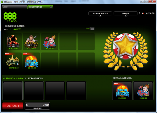 Exclusive games la 888Casino