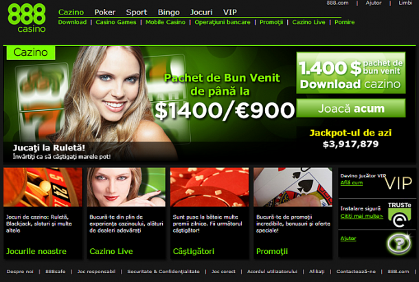 Interfata site 888Casino