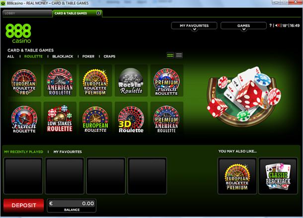 Jocuri de ruleta 888Casino