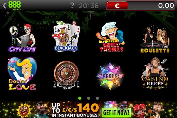 Jocuri 888 Casino mobile