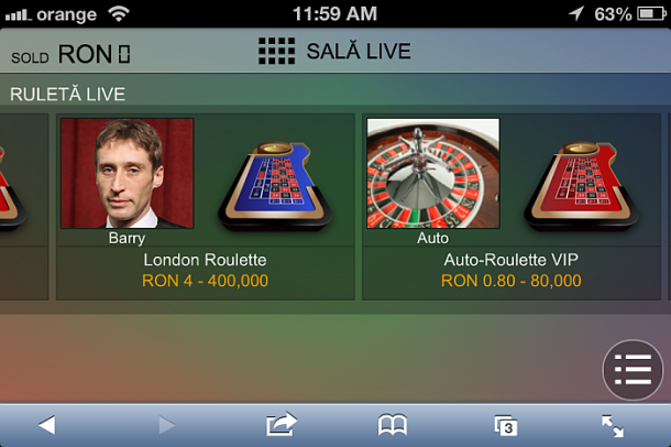Unibet casino live mobil