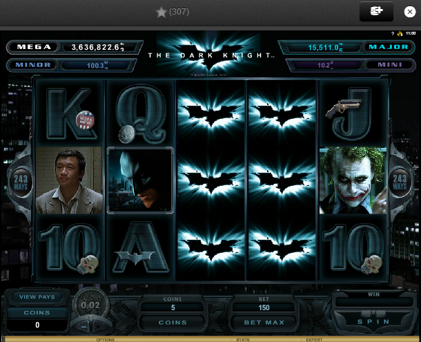The Dark Knight la Unibet Casino